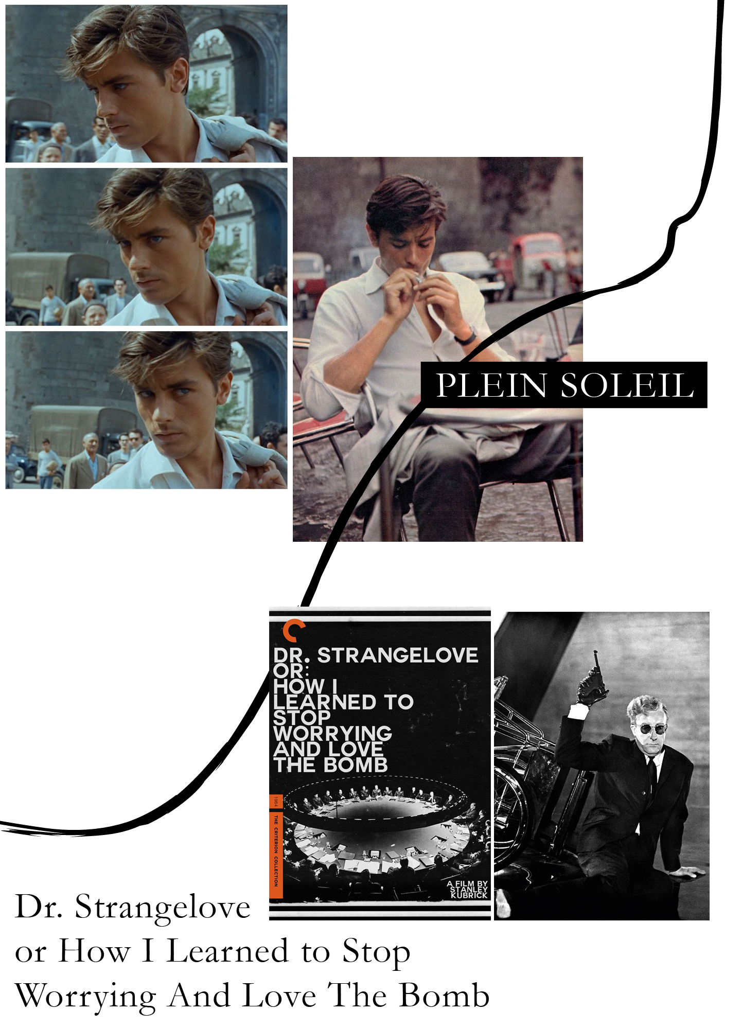 Plein Soleil, Nur die Sonne war Zeuge, Purple Noon, Alain Delon, Dr. Strangelove or how I learned to stop worrying and love the bomb, Stanley Kurick